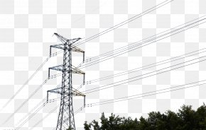 High Voltage Wire - Transmission Tower High Voltage Overhead Power Line Power Cable PNG