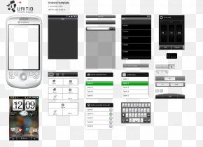Gui Elements - Android User Interface Design Adobe Fireworks Template Mockup PNG