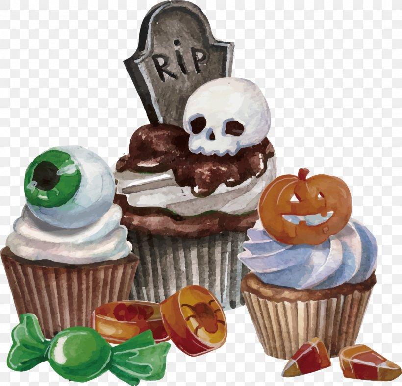 Halloween Dessert Euclidean Vector, PNG, 1128x1084px, Halloween, Buttercream, Cake, Candy, Cupcake Download Free