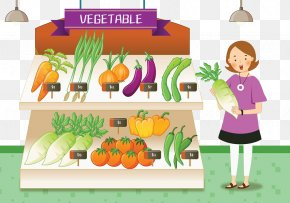 Mother To Buy Vegetables - Vegetable Mother Clip Art PNG