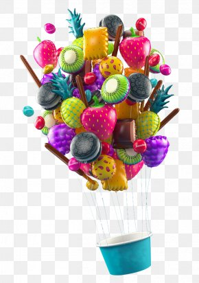 Fruit Ice Cream Balloon - Ice Cream Fruit 3D Computer Graphics PNG