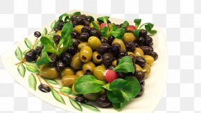 Delicious Olive Fruit On Plate - Mediterranean Cuisine Olive Oil Food Drupe PNG