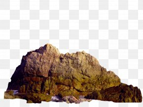 Yellow Brown Simple Rock Decoration Pattern - Rock The Sea PNG
