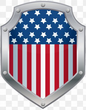 American Badge Flag Clip Art Image - United States Clip Art PNG
