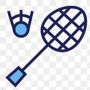 Blue Badminton - Badmintonracket Badmintonracket Sports Equipment Clip Art PNG