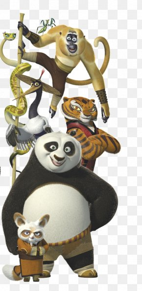 Kungfu - Po Master Shifu Giant Panda Tigress Viper PNG