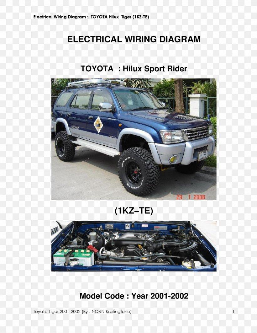 Toyota Hilux Toyota 4Runner Wiring Diagram Tire, PNG, 1700x2200px, Toyota  Hilux, Auto Part, Automotive Exterior, AutomotiveFAVPNG.com