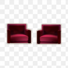 Square Red Seat - Chair Seat Square PNG