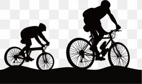Outdoor Cycling Silhouette - Bicycle Pedal Mountain Bike Outdoor Recreation Hiking PNG