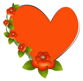 Heart Orange - Mother's Day Desktop Wallpaper Clip Art PNG