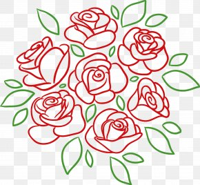 Rose - Flower Bouquet Drawing Rose PNG
