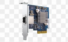 Qnap Systems Inc - QNAP Systems, Inc. 10 Gigabit Ethernet PCI Express Network Storage Systems Expansion Card PNG
