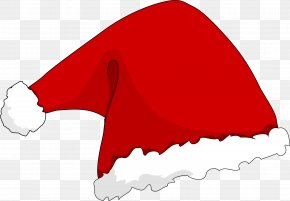 Red Christmas Hats - Santa Claus Hat Clip Art PNG