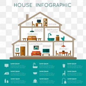 Color Three-dimensional Design Vector Material Arrow - Infographic House Home Room PNG