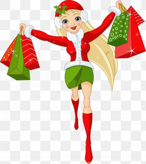 Shopping Bag - Christmas Gift Shopping Clip Art PNG