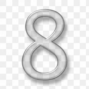 Number 8 - .com Domain Name Web Hosting Service Website Email PNG