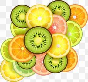 Kiwi And Orange Grapefruit And Other Cartoon Vector Material - Fruit Slice Orange PNG