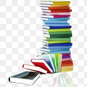 Library Elements - Book Library Stack Clip Art PNG