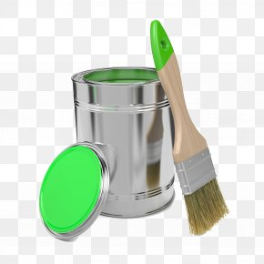 Water-based Paint Bucket - Painting Paintbrush Photography Illustration PNG