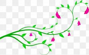 Flower Vine Cliparts - Vine Flower Free Content Clip Art PNG