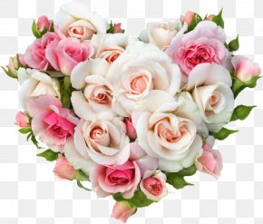 Pink Roses - Gift Wedding Rose Heart Flower Bouquet PNG