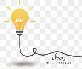 Vector Bulb Idea - Idea Creativity Concept Incandescent Light Bulb PNG