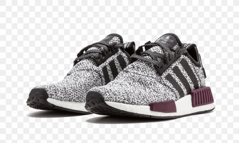 Adidas Nmd R1 Shoes White Mens Core Maroon Grey Png
