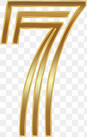 Number Seven Gold Clip Art Image - Clip Art PNG