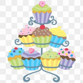 Cupcake Stand - Cupcake Muffin Frosting & Icing Clip Art PNG