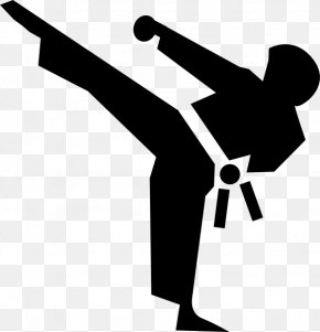 Karate Cliparts - Martial Arts Karate Kick Clip Art PNG