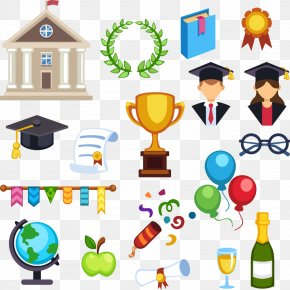 Vector Color Graduation Element - Graduation Ceremony Diploma Clip Art PNG