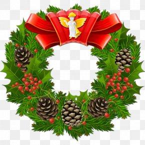 Santa Claus - Santa Claus Christmas Wreath Clip Art PNG