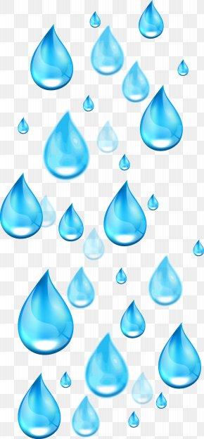 Blue Water Drop - Drop Water Euclidean Vector Illustration PNG