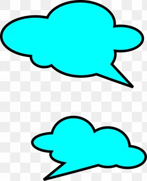 Talk - Bubble Cloud Speech Balloon Callout Clip Art PNG