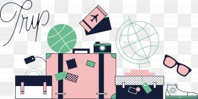 World Travel Vector Material - Airplane Travel Airline Ticket Boarding Pass PNG