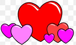 I Love You - Love Heart Cartoon Drawing PNG