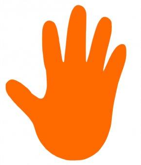 Orange Hand Cliparts - Hand Clip Art PNG