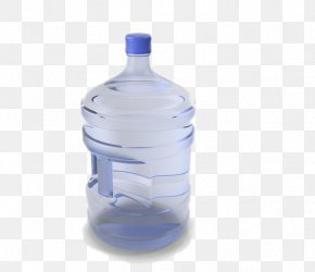 Blue Mineral Water Bucket - Water Bottle Bottled Water Plastic Mineral Water PNG