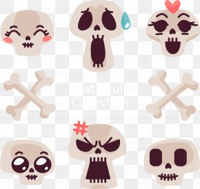 Exaggerated Expression Of The Skeleton - Facial Expression Emotion Skull Icon PNG