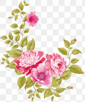 Flowers Vector Material - Wedding Invitation Pink Flowers Greeting Card PNG