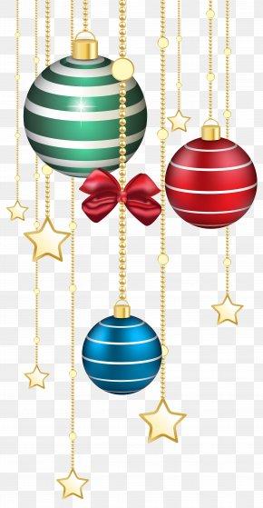Christmas Balls Decor Transparent Image - Christmas Ornament Christmas Day Icon Clip Art PNG