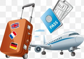 Travel - Air Travel Clip Art Vector Graphics Illustration PNG