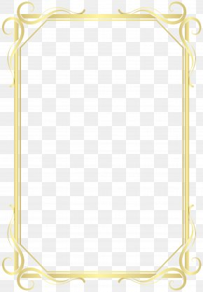 Rectangle Picture Frame - Frame Gold Frame PNG