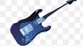 A Blue Electric Guitar - Electric Guitar Blue PNG