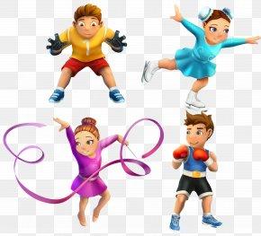 Cute Kids Cartoon Villain Vector Sport - Icon PNG