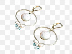 Jewellery - Pearl Earring Jewellery Pendant Silver PNG