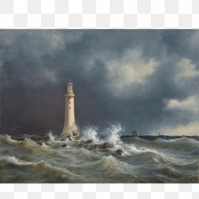 Painting - Eddystone Lighthouse Smeaton's Tower National Gallery Of Denmark Groninger Museum Painting PNG