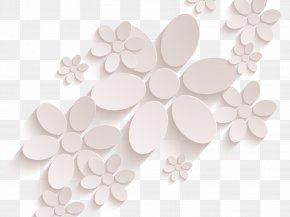 Dimensional Flowers Vector - Relief Euclidean Vector Flower Three-dimensional Space PNG