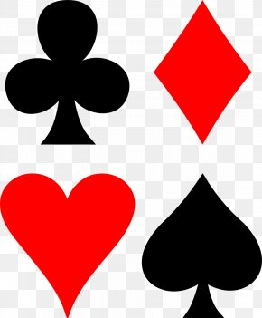 Playing Card Suit Symbols - Set Suit Playing Card Contract Bridge Cassino PNG