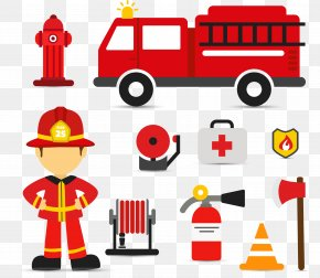 Fireman's Fire Engine - Firefighter Fire Engine Euclidean Vector PNG